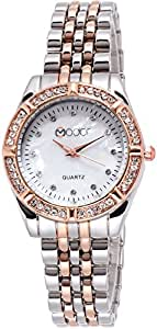 Modor Royal Elegance Dual Colour White Analogue Dial Wear Multi Purpose Wrist Watch for Women & Girls