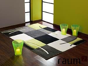 Teppich CALIFORNIA Karo 139 700 grün Groesse: 80 x 150 cm
