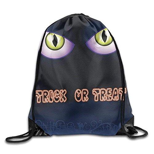 urnbeutel Rucksack Halloween Trick or Treat Cat Eye Muster Strang Staubbeutel (Machen Trick Oder Treat Taschen)