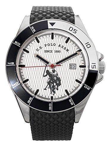 US Polo Association Reloj Analógico para Hombre de Cuarzo con Correa en Cuero USP4460BK