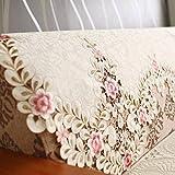 ZTT Home Sofa Supplies, europäischen Stil Bestickte Rückenlehne Handtuch, Spitze ländlichen Sofa Kissen Sofa Handtuch Arm Handtuch-A 80X80Cm (31X31Inch),80x215cm (31x85inch),AA