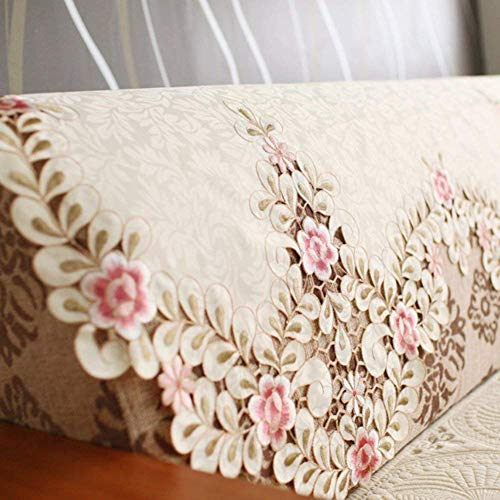 ZTT Home Sofa Supplies, europäischen Stil Bestickte Rückenlehne Handtuch, Spitze ländlichen Sofa Kissen Sofa Handtuch Arm Handtuch-A 80X80Cm (31X31Inch),80x60cm (31x24inch),AA -