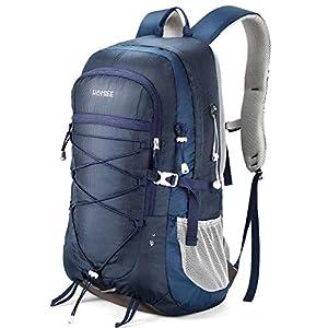 HOMIEE Wanderrucksack 45L, Herren Damen Wasserdichter Rucksack Trekkingrucksack Reiserucksack, Outdoorrucksack mit…