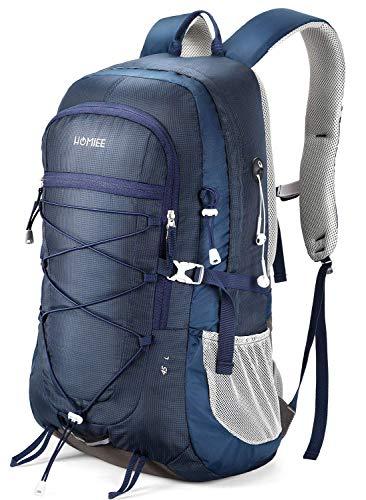 HOMIEE 45L Rucksack, Wasserdichter Wanderrucksack Trekkingrucksack Reiserucksack mit Reflexstreifen für Herren Damen, Ideal für Radfahren Reisen Klettern Outdoor Sport