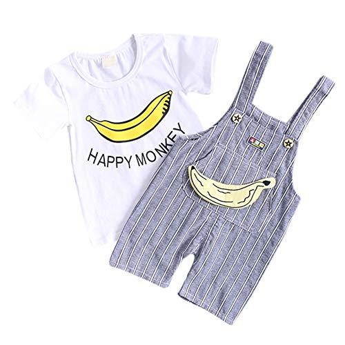 ESHOO Sommer Baby Jungen Kleidung Kurzarm Tops + Shorts Abkürzung Kleidung Cartoon Gedruckt Outfit Sets -