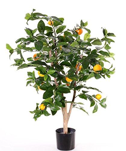 artplants Set 2 x Künstlicher Orangenbaum TERUKI, 13 Früchte, grün, 85 cm – Kunstbaum/Dekobaum