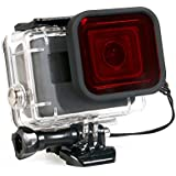 Housing Case For GoPro Hero 6/5 Waterproof Case Diving Protective Housing Shell 45m With Red Filter For Go Pro Hero 6/5 Action Camcorder