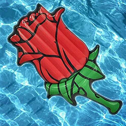 SGLI Rose Aufblasbare Schwimmende Reihe PVC Schwimmbett Schwimmring Sitz Wasserspielzeug 180cm Aufblasbarer Kajak (Aufblasbare Kajak Ozean)