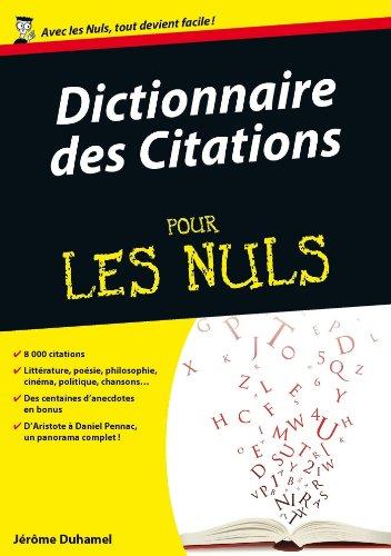 Dictionnaire des citations Pour les Nuls