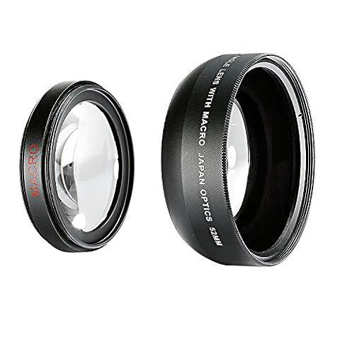Neewer® 52mm 0,43x Professional High Definition Weitwinkel-Linse mit abnehmbaren Makro für Nikon D5300D5200D5100D3300D3200D3100D3000DSLR-Kameras und