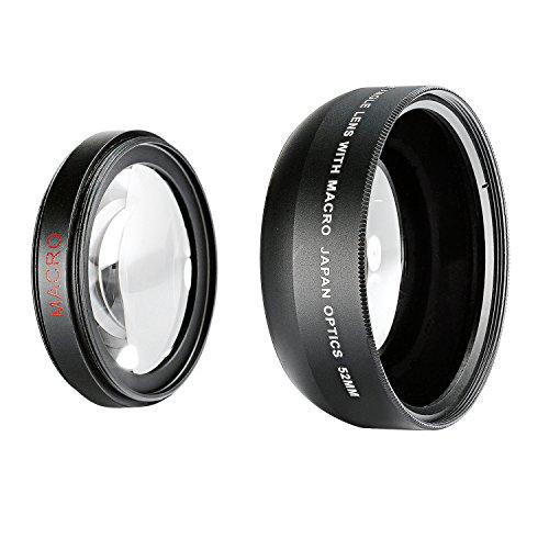 Neewer® 52mm 0.43X profesional de alta definición Lente Gran Angular con desmontable lente MACRO para Nikon D5300D5200D5100D3300D3200D3100D3000DSLR Cámaras y más