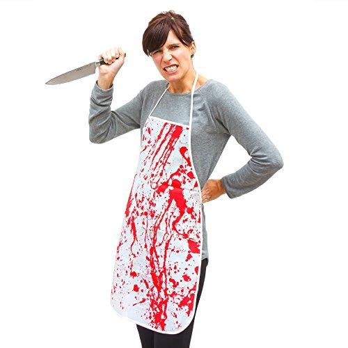 tige Schürze Blut Befleckt Halloween Zombie Fasching Karneval ()