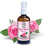 Acqua di Rose 100ml - Rose Damascena - Bulgara - Naturale e Puro al 100% - Tonico Spray per la Pelle - Capelli - Viso - la Cura del Corpo - Senza Sostanze Chimiche e Alcool