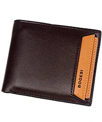 Bogesi Leather Wallet for Mens with Removable Slot - 721 (Brown)