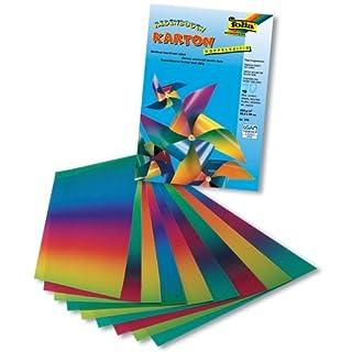 Regenbogen-Tonkarton 10Bl 200g 22X32Cm Klappmappe