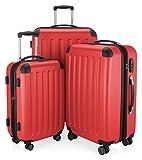 HAUPTSTADTKOFFER Spree - 3er Koffer-Set Trolley-Set Rollkoffer Reisekoffer, TSA, (S, M & L), Set di valigie, 75 cm, 259 liters, Rosso (Rot)