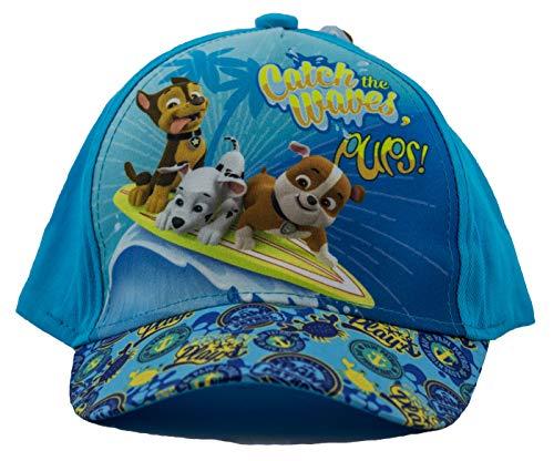 Paw Patrol Kappe, Baseball Cap, Schirmmütze für Kinder, Mädchen und Jungen, 100% Baumwolle mit Klettverschluss verstellbar (52, Türkis)