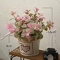 Simulación de flor NabothT Tin pot verano flores artificiales en maceta pequeña flor kit emulación sills