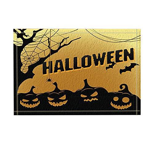 r Smile Pumpkin Shade Badteppiche rutschfeste Fußmatte Boden Eingänge Outdoor Indoor Haustür Matte Kids Badematte 15.7x23.6in Badezimmerzubehör ()