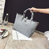 Foto-bag sacca femmina semplice tendenza moda di borsa tracolla messenger bag,grigio chiaro
