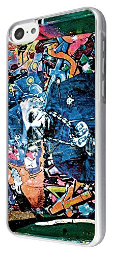 696 - Street Art Albert einstein Design iphone 5C Coque Fashion Trend Case Coque Protection Cover plastique et métal