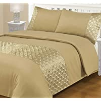 Ellipse Duvet Cover with Pillow Case Quilt Cover Bedding Set All Sizes by 247 Traders (Mink, SuperKing)