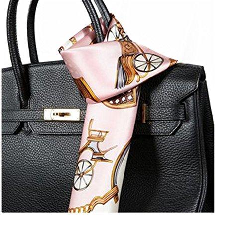 Preisvergleich Produktbild Silk Run 'Rosa Kette Quadratischer Schal 100% SEIDE (55cmx55cm)