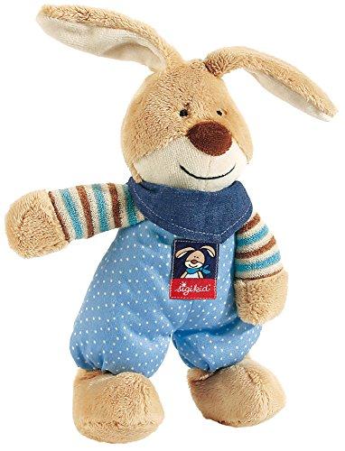 sigikid, Mädchen und Jungen, Schlummerfigur Hase, Semmel Bunny, Beige/Blau, 47897