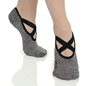 Asking Yoga socks and pilate Grip Anti-slip bar in cotton Dance, Sport all kinds for woman