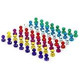 Farbige Magnete Drücken Sie Pin-Magnete Kühlschrankmagnete 56 Stücke 7 Sortierte Farbe Starke Magnete-Perfekte Magnete für Whiteboard, Kühlschrank, Karte und Kalender, Büro-Magnete und Schule Magnete