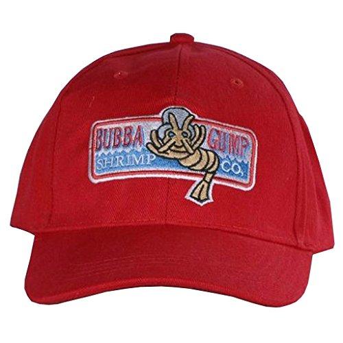 ap Bubba Gump Shrimp Mütze Kappe Cosplay Rot Baseball Hut (Baseball Halloween Kostüme Für Erwachsene)