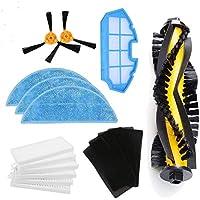 LIRR Kit de accesorios de limpieza para robots aspiradores Conga Excellence:cepillos laterales,cepillo central,filtro EPA,filtro malla,cepillo de limpieza