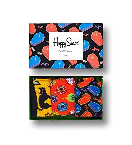 (Happy Socks Gemischt farbenfrohe Geschenkbox an Baumwollsocken für Männer und Frauen,Mehrfarbig (Halloween Gift Box),36-40)