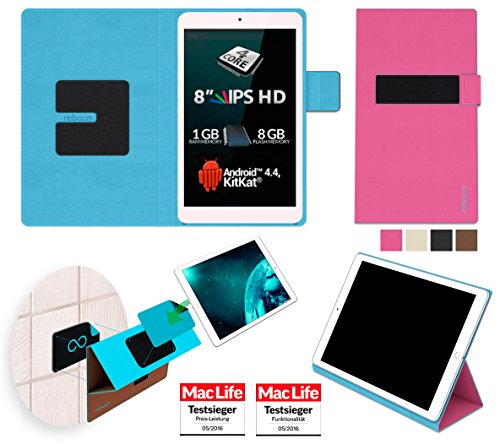 reboon Allview Viva Q8 Pro Hülle Cover Case Bumper | Pink | Testsieger
