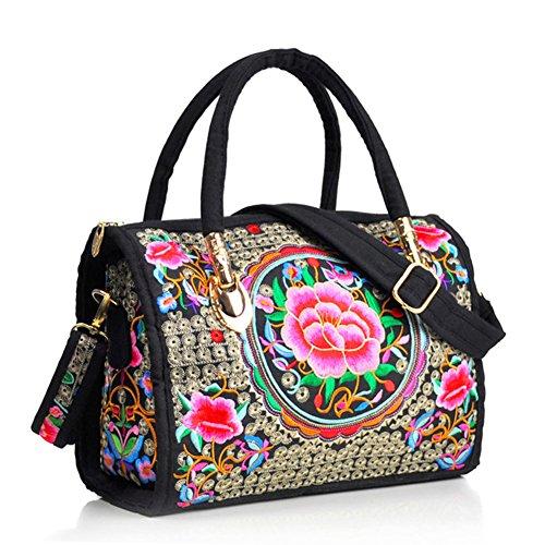 Peony ricamo Handbags–Memorecool Portable design for Girls Lady stile elegante e bella sentimenti 470g flower8 flower11