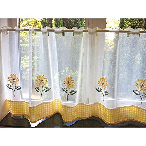 just-contempo-kchen-gardinen-fertige-voile-gardine-polyester-sonnenblumen-gelb-weiss-152-x-46-cm