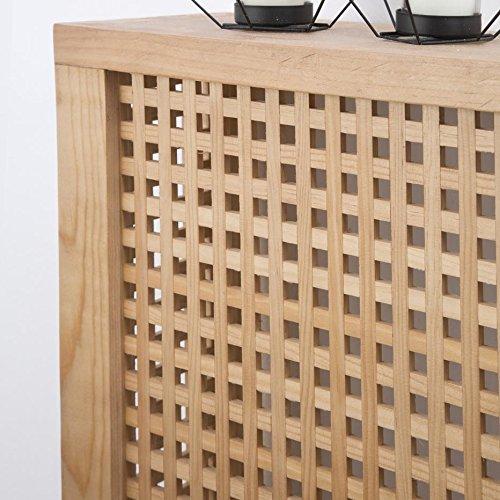 Nordic Heizkörperverkleidung 92,5Cm – Holz – 92x18x78 cm – Farbe Natur - 3