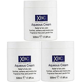 3 x 500ml XBC Aqueous Cream Emollient Large Tub Relief for Dry Skin