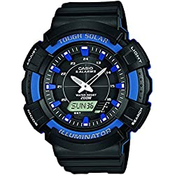 CASIO Sports Men's Quartz Watch with Black Dial Analogue Display and Black Resin Strap AD-S800WH-2A2VEF