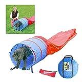 Pawise - Juego de túnel de Agilidad para Mascotas con Clavijas y Funda de Transporte para Entrenamiento y Ejercicio al Aire Libre para Perros, Color Azul y Rojo (diámetro 60 cm, Longitud 500 cm)