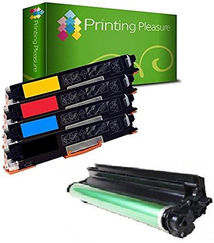 Drum Unit Laserjet (Printing Pleasure 4er Set Toner CE310A-CE313A mit Trommel CE314A kompatibel für HP Colour Laserjet CP1025 CP1025NW CP1020 M175a M175nw Pro 100 M175 MFP M175A M175NW M275 TopShot M275 - hohe Kapazität)