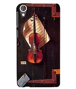 Citydreamz Violin/Music/Notes/Instruments Hard Polycarbonate Designer Back Case Cover For HTC Desire 728/HTC Desire 728G/HTC Desire 728 LTE/ HTC Desire Dual Sim