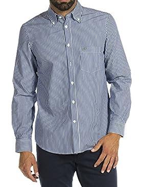 Carrera Jeans - Camisa 213B1230A para hombre, estilo clásico, tejido de hilo, ajuste regular, manga larga