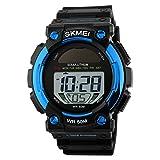 Skmei Unique design solar power supply multifunctional digital sports watch-1126 Blue