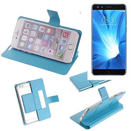 K-S-Trade Flipcover für Nubia Z17 Mini S Schutz Hülle Schutzhülle Flip Cover Handy case Smartphone Handyhülle blau
