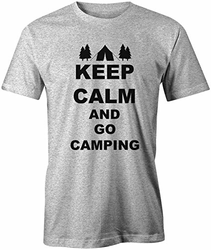 KEEP CALM AND GO CAMPING - HERREN - T-SHIRT Grau Meliert