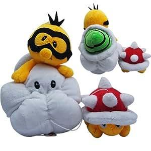 2x SUPER MARIO BROS Turtle Soft Plush Stuffed Toy Set