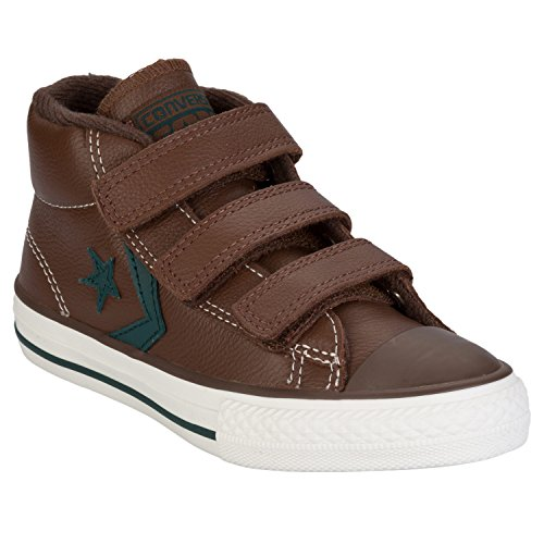 Converse Star Player 3V Leather Mid, Baskets mode mixte enfant Marron