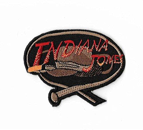 MemelBurg Indiana Jones Patch (3 Zoll) bestickt Eisen oder annähen Abzeichen Applique Movie Souvenir Retro DIY Kostüm Hut ()