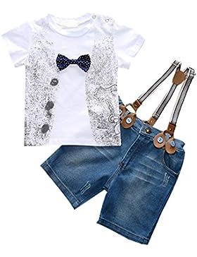 Clode® Bambini Ragazzi del Bambino Bello Maglietta + Denim Pantaloni + Cinghie Vestiti Outfits